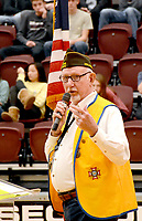 Janelle Jessen/Herald-Leader<br /> Cecil Nichols, veteran and Siloam Springs High School history teacher, spoke during the Veterans Day program at the high school on Monday. Veterans of Foreign Wars Post 1674 and the school partnered to host the community program.