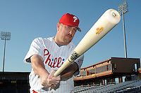 Feb 20, 2009; Clearwater, FL, USA; The Philadelphia Phillies outfielder Matt Stairs (12) during photoday at Bright House Field. Mandatory Credit: Tomasso De Rosa/ Four Seam Images