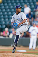 at BB&T Ballpark on April 3, 2014 in Winston-Salem, North Carolina.  The Blue Rocks defeated the Dash 3-1.  (Brian Westerholt/Four Seam Images)