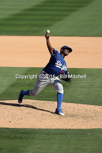 Jharel Cotton - Los Angeles Dodgers 2016 spring training (Bill Mitchell)