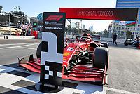 5th June 2021;  F1 Grand Prix of Azerbaijan Pole winner 16 Charles Leclerc MON, Scuderia Ferrari Mission Winnow, F1 Grand Prix of Azerbaijan at Baku City Circuit