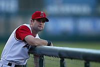 Adam Kennedy of the Anaheim Angels during a 2003 season MLB game at Angel Stadium in Anaheim, California. (Larry Goren/Four Seam Images)
