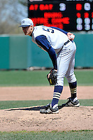 Notre Dame Fighting Irish pitcher Donnie Hissa (51) during first game of a doubleheader against St.John's Red Storm at Jack Kaiser Stadium in Queens, New York;  April 21, 2011.  St. John's defeated Notre Dame 6-0.  Photo By Tomasso DeRosa/Four Seam Images
