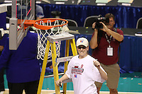 10 March 2008: Stanford Cardinal Jeanette Pohlen during Stanford's 56-35 win against the California Golden Bears in the 2008 State Farm Pac-10 Women's Basketball championship game at HP Pavilion in San Jose, CA.