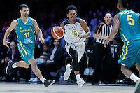 July 14, 2016: TRA HOLDER (6) of the Arizona State Sun Devils runs with the ball during game 2 of the Australian Boomers Farewell Series between the Australian Boomers and the American PAC-12 All-Stars at Hisense Arena in Melbourne, Australia. Sydney Low/AsteriskImages.com
