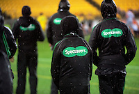 Match officials during the Super Rugby quarterfinal match between the Hurricanes and Sharks at Westpac Stadium, Wellington, New Zealand on Saturday, 23 July 2016. Photo: Dave Lintott / lintottphoto.co.nz