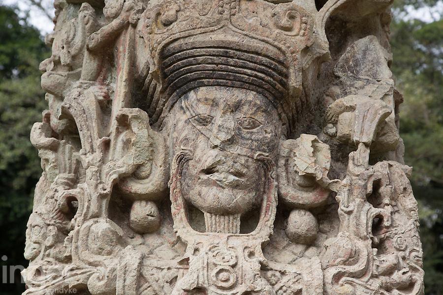 Stelae Detail at Copan, Honduras
