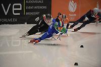 SPEEDSKATING: DORDRECHT: 06-03-2021, ISU World Short Track Speedskating Championships, QF 500m Men, Pietro Sighel (ITA), Shaoang Liu (HUN), ©photo Martin de Jong
