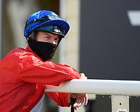 Jockey Richard Kingscote during Horse Racing at Salisbury Racecourse on 9th August 2020