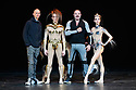 Wayne McGregor, Edward Watson, Manfred Thierry Mugler, Olga Smirnova, pose, on stage, for photographs in advance of the world premiere of McGREGOR + MUGLER, at the London Coliseum. McGREGOR + MUGLER forms part of a triple bill at the venue and is a contemporary ballet, choreographed by Royal Ballet Resident Choreographer, Wayne McGregor, art directed and designed by Manfred Thierry Mugler, and performed by Bolshoi Prima Ballerina, Olga Smirnova and Royal Ballet Principal, Edward Watson.
