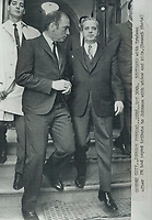 1968 FILE PHOTO - ARCHIVES -<br /> <br /> Pierre Eliott,TRudeau,<br /> Jean-Jacques Bertrand <br /> <br /> 1968<br /> <br /> PHOTO : Graham Bezant - Toronto Star Archives - AQP
