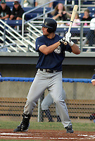 July 17, 2003:  Mike Conroy of the Mahoning Valley Scrappers, Class-A affiliate of the Cleveland Indians, during a NY-Penn League game at Dwyer Stadium in Batavia, NY.  Photo by:  Mike Janes/Four Seam Images