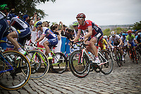 Vegard Breen (NOR/Lotto-Soudal) up Libby Hill<br /> <br /> Elite Men Road Race<br /> UCI Road World Championships Richmond 2015 / USA
