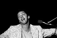 August 25, 1985 File Photo - Normand Brathwaite<br /> <br /> Perform at Lachine celebrations