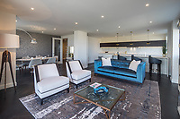 BNPS.co.uk (01202 558833)<br /> Picture: Savills/BNPS<br /> <br /> Pictured: The lounge.<br /> <br /> HOWZAT for a view?<br /> <br /> A luxury flat that has grandstand views of Lords cricket ground has gone on the market for £2.72m.<br /> <br /> The two-bed apartment is on the 11th floor of a building next to the 'home of cricket'.<br /> <br /> From the balcony, there are uninterrupted views of the cricket pitch.
