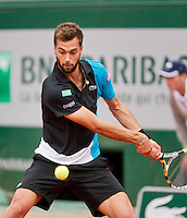 01-06-13, Tennis, France, Paris, Roland Garros, Benoit Paire