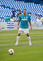 August 03 2010 Inter Milan FC defender Marco Materazzi No. 23 in action during the warm-up in an international friendly between Inter Milan FC and Panathinaikos FC at the Rogers Centre in Toronto..Final score was 3-2 for Panathinaikos FC.