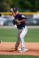 Minnesota Twins Ryan Walker (33) during practice before a minor league spring training game against the Baltimore Orioles on March 28, 2015 at the Buck O'Neil Complex in Sarasota, Florida.  (Mike Janes/Four Seam Images)
