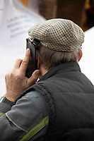 1-3-2021 A farmer taking on a mobile phone<br />  ©Tim Scrivener Photographer 07850 303986<br />      ....Covering Agriculture In The UK....