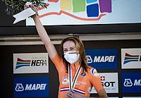 Annemiek van Vleuten (NED/Mitchelton-Scott) finishes 2nd after breaking her wrist only 10 days earlier<br /> <br /> Women's Elite Road Race from Imola to Imola (143km)<br /> <br /> 87th UCI Road World Championships 2020 - ITT (WC)<br /> <br /> ©kramon