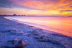 Sunrise on Revere Beach, Revere, MA, USA