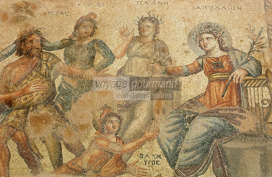 Europe/Chypre/Paphos : Mosaïque de Paphos dans la maison d'Aion