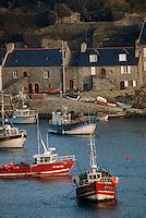 Europe/France/Bretagne/29/Finistère/Le Conquet: Le port et bateau de pêche artisanale au Conquet
