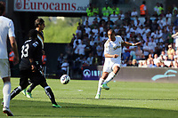 Pictured: Ashley Williams (R).<br /> Sunday 19 May 2013<br /> Re: Barclay's Premier League, Swansea City FC v Fulham at the Liberty Stadium, south Wales.