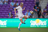 Orlando, FL - Saturday March 24, 2018: Utah Royals forward Elise Thorsnes (20) prepares to shoot prior to a regular season National Women's Soccer League (NWSL) match between the Orlando Pride and the Utah Royals FC at Orlando City Stadium. The game ended in a 1-1 draw.
