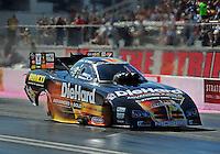 Oct. 30, 2011; Las Vegas, NV, USA: NHRA funny car driver Matt Hagan during the Big O Tires Nationals at The Strip at Las Vegas Motor Speedway. Mandatory Credit: Mark J. Rebilas-