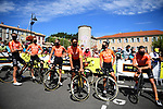 CCC Team at sign on before the start of Stage 4 of Tour de France 2020, running 160.5km from Sisteron to Orcieres-Merlette, France. 1st September 2020.<br /> Picture: ASO/Pauline Ballet | Cyclefile<br /> All photos usage must carry mandatory copyright credit (© Cyclefile | ASO/Pauline Ballet)