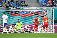 ST PETERSBURG, RUSSIA - JUNE 12 : Romelu Lukaku forward of Belgium scores a goal pictured during the 16th UEFA Euro 2020 Championship Group B match between Belgium and Russia on June 12, 2021 in St Petersburg, Russia, 12/06/2021 <br /> Photo Photonews / Panoramic / Insidefoto <br /> ITALY ONLY