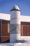 Barn with silo in winter, Union County, Pennsylvania