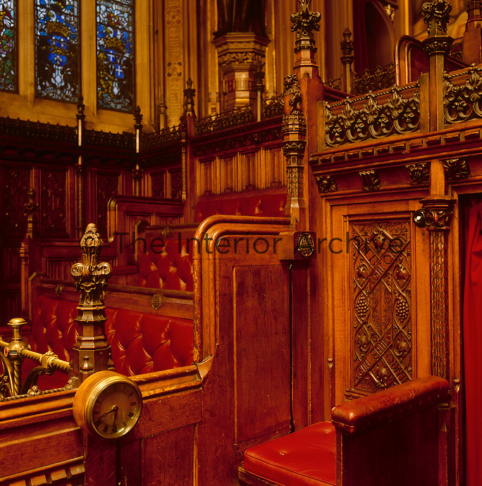 The Press Gallery in the Chamber, with its seat for the door keeper