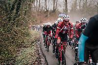 Mads Pedersen (DEN/Trek-Segafredo) up the Trieu<br /> <br /> 73rd Dwars Door Vlaanderen 2018 (1.UWT)<br /> Roeselare - Waregem (BEL): 180km