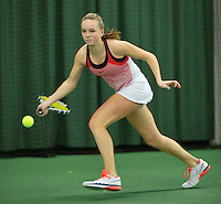 Rotterdam, The Netherlands, March 13, 2016,  TV Victoria, NOJK 12/16 years, Perla Nieuwboer (NED)<br /> Photo: Tennisimages/Henk Koster