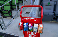 AUSTIN, TX - JUNE 16: BioSteel, sponsors before a game between Nigeria and USWNT at Q2 Stadium on June 16, 2021 in Austin, Texas.