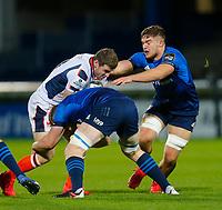16th November 2020; RDS Arena, Dublin, Leinster, Ireland; Guinness Pro 14 Rugby, Leinster versus Edinburgh; Mark Bennett of Edinburgh is tackled by Dan Leavy of Leinster