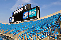 View from inside of the Bank of America Stadium in Charlotte NC.