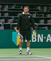 09-02-14, Netherlands,Rotterdam,Ahoy, ABNAMROWTT,  Roger Rasheed coach of Dimitrov<br /> Photo:Tennisimages/Henk Koster