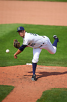 Cedar Rapids Kernels relief pitcher Andrew Vasquez (25) during a game against the Dayton Dragons on July 24, 2016 at Perfect Game Field in Cedar Rapids, Iowa.  Cedar Rapids defeated Dayton 10-6.  (Mike Janes/Four Seam Images)