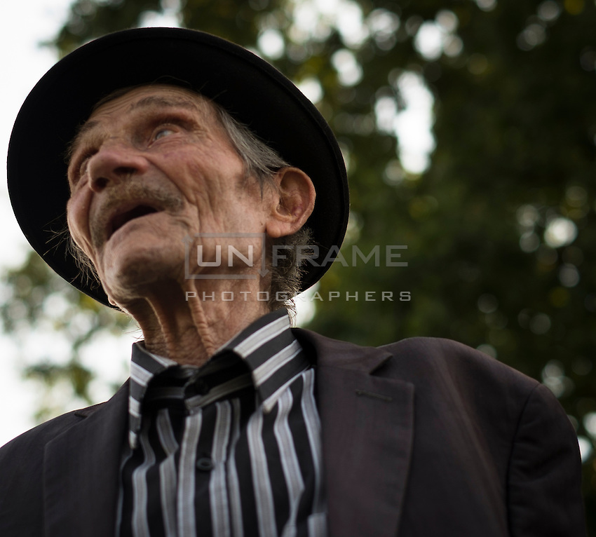 70th anniversary of Roma genocide, Raymond Gureme at the Auschwitz concentation camp.