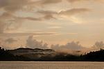Raja Ampat island at sunset