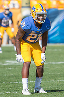 Pitt defensive back Malik Henderson. The North Carolina Wolfpack defeated the Pitt Panthers 35-17 at Heinz Field, Pittsburgh, PA on October 14, 2017.
