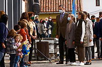 SOMAO, SPAIN-October 17: King Felipe, Queen Letizia, Queen Sofia, Crown Princess Leonor and Princess Sofia visit the village of Somao winner of the Princess of Asturias Village award 2020 in Pravia, Spain on the 17th of October of 2020. October17, 2020. Credit: Jimmy Olsen/Media Punch **NO SPAIN**