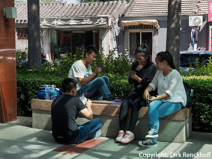 Park an der Fuxingmen Dajie, Peking, China, Asien<br /> Park at Fuxingmen Dajie, Beijing, China, Asia
