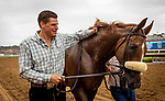 JULY 24, 2021: Taylor Cambra with United after winning the Eddie Read Stakes at the Del Mar Fairgrounds in Del Mar, California on July 24, 2021. Evers/Eclipse Sportswire/CSM