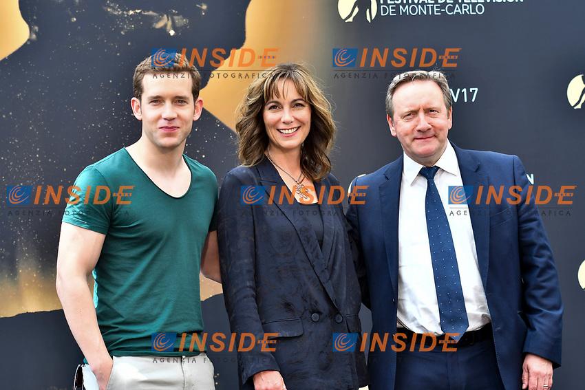 Nick Hendrix - Fiona Dolman -Niel Dudgeon (Midsomer Murders)<br /> Monaco - 20/06/2017<br /> 57 festival TV Monte Carlo <br /> Foto Norbert Scanella / Panoramic / Insidefoto