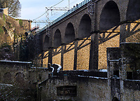 Pulvermühlenviadukt, Luxemburg-City, Luxemburg, Europa<br /> Pulverturmviadukt, Luxembourg City, Europe