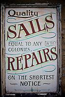 Sails sign at the Shipreck Museum, Warrnambool